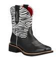 Ariat Ladies Rosie Black Zebra Print Boots