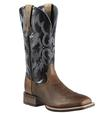 Ariat Men's Tombstone Leather Earth Black Cowboy Boots