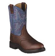 Ariat Men's Sierra Saddle Western Blue Indigo Work Boots