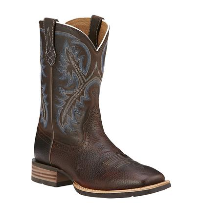 Ariat Men's Brown Oiled Rowdy Quickdraw Cowboy Boots