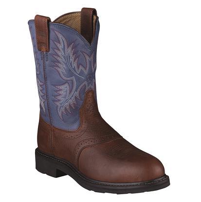 Ariat Men's Sierra Saddle Western Blue Indigo Steel Toe Work Boots