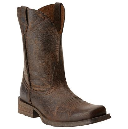 Ariat Men's Rambler Brown Wicker Distressed Leather Cowboy Boots