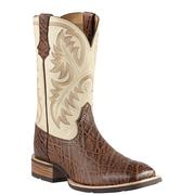 Ariat Men's Quickdraw Chestnut Elephant Print Boots