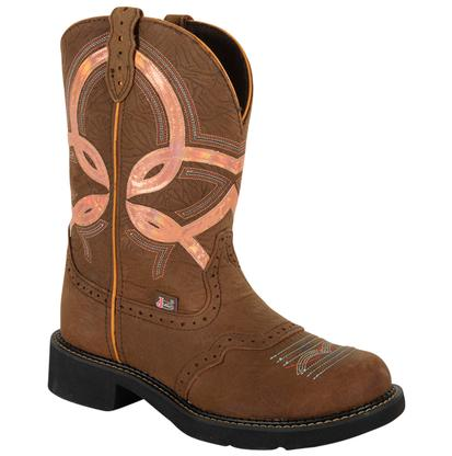 Justin Women's Barnwood Brown Cow Gypsy Boots