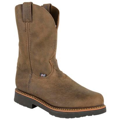 Justin Men's Chocolate Brown JMax Electrical Hazard Dri-Lex Rugged Guacho Work Boots
