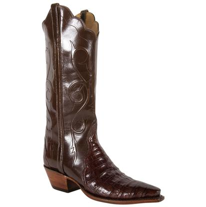 Lucchese Women's Sienna Ultra Belly Pony Brown Buff Boots