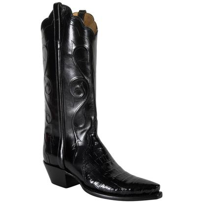 Lucchese Classic Women's Black Triad Ultra Belly Crocodile Cowgirl Boots