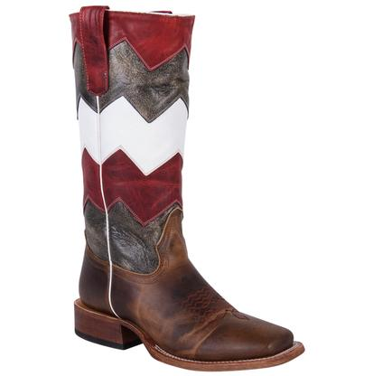 Macie Bean Youth Brown Chevron Boots