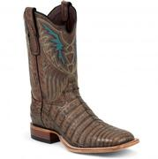 Tony Lama Men's Cigar Vintage Belly Black Label Caiman Western Boots