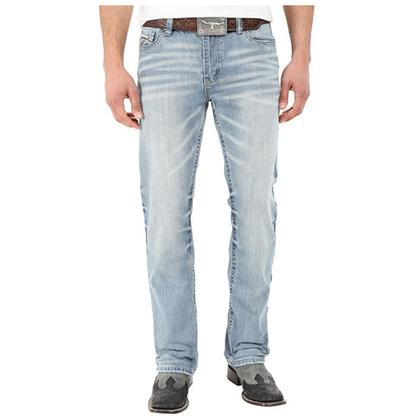 Cinch Western Denim Jeans Mens Bootcut Ian Slim Light Wash