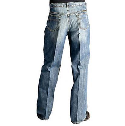 Cinch Mens Mid Rise Relaxed Straight Leg - Medium Stonewash