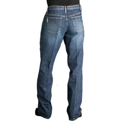 Cinch Mens Dooley Relaxed Fit Bootcut Jean - Light Stonewash