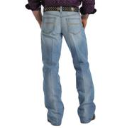 Cinch Mens Carter Light Stonewash Relaxed Waist Bootcut Jeans