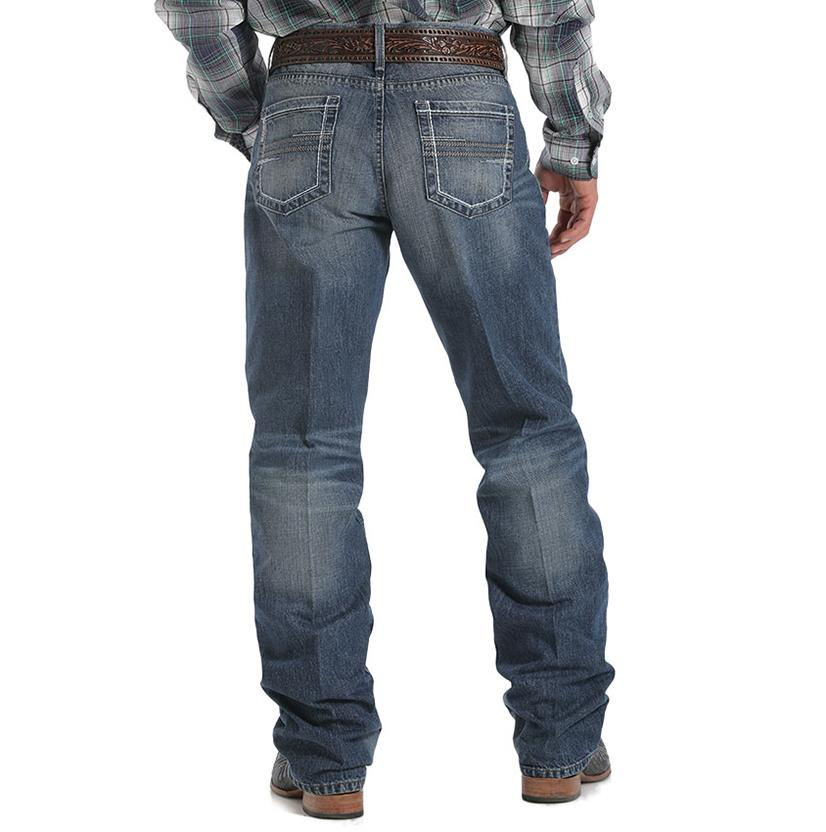 Cinch Mens Western Sawyer Loose Fit Mid Rise Dark Wash Jeans