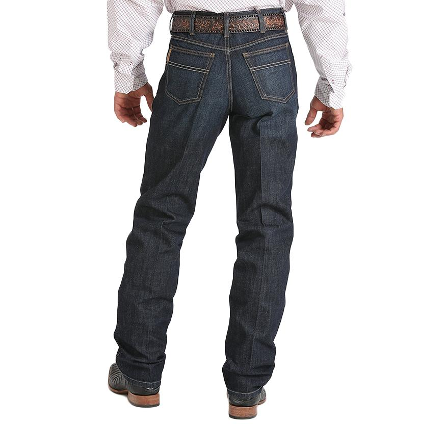 Cinch Mens Western Green Label Relaxed Dark Wash Jeans
