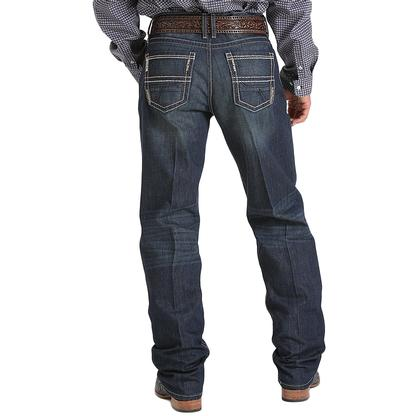 Cinch Mens Sawyer Loose Permanganate Dark Wash Jeans