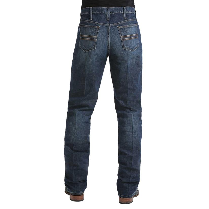 Cinch Mens Western Silver Label Slim Dark Wash Jeans