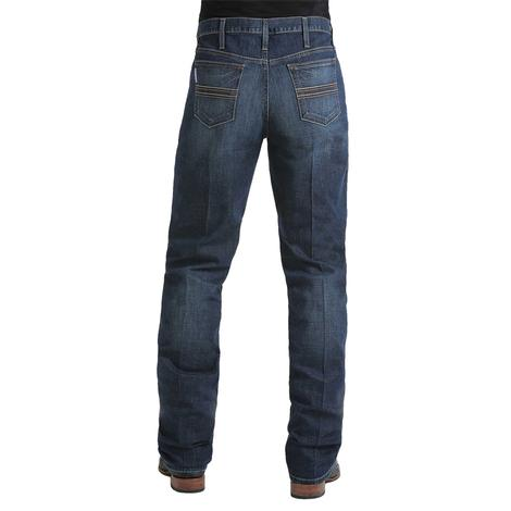 Cinch Men's Western Silver Label Slim Dark Wash Jeans
