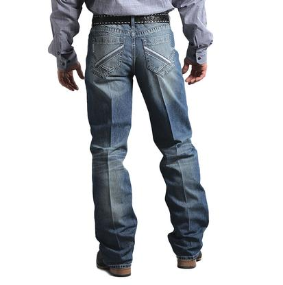 Cinch Mens Grant Relaxed Fit Bootcut Western Denim Blue Jeans