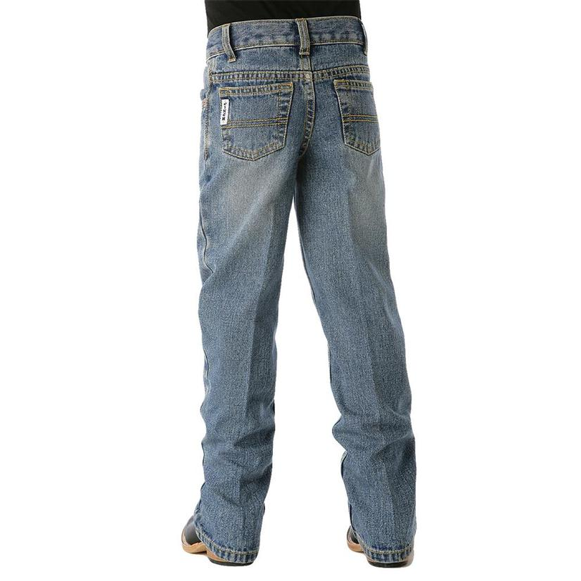 Cinch Boys ' White Label Traditional Rise Slim Fit Jean - Light Stonewash