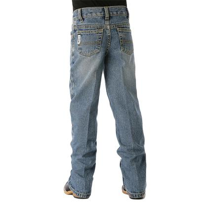 Cinch Boys' White Label Traditional Rise Slim Fit Jean - Light Stonewash