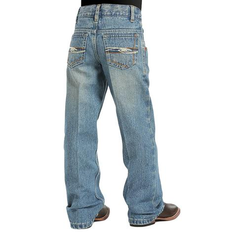 Cinch Boy's Tanner Slim Fit Jeans - Medium Stonewash