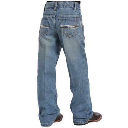 Cinch Boy's Tanner Regular Fit Jeans - Medium Stonewash