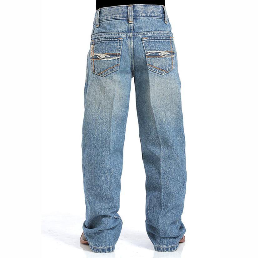 Cinch Boy's Tanner Jeans - Medium Stonewash
