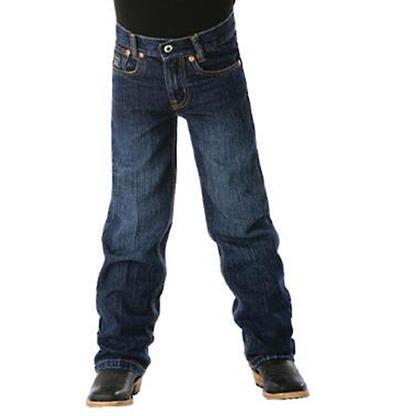 Cinch Boy's Black Label Regular Fit Jeans - Dark Stonewash