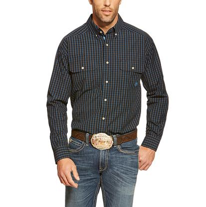 Ariat Mens Conrad Black Plaid Double Pocket Western Shirt