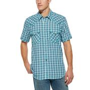 Ariat Men's Starry Short Sleeve Snap Turquoise Shirt