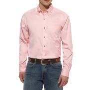 Ariat Men's Pink Longsleeve Button Down Shirt