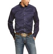 Ariat Men's Peacoat Solid Long Sleeve Western Shirt