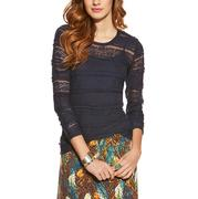 Ariat Women's Sheer Floral Lace Long Sleeve Shirt