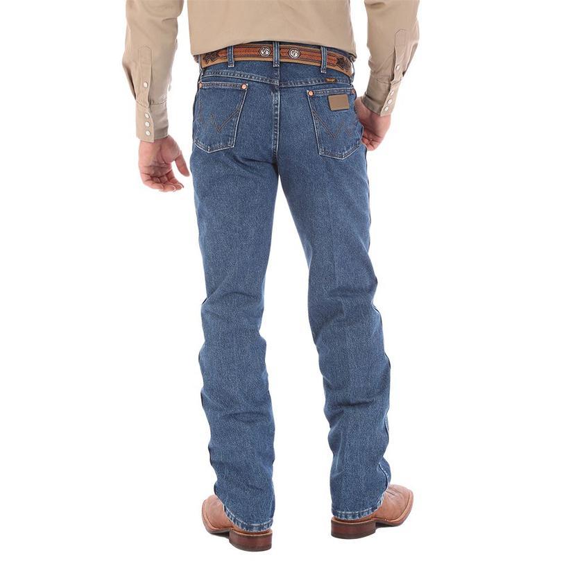 Wrangler Mens Original Fit Cowboy Cut Jeans - Stonewashed