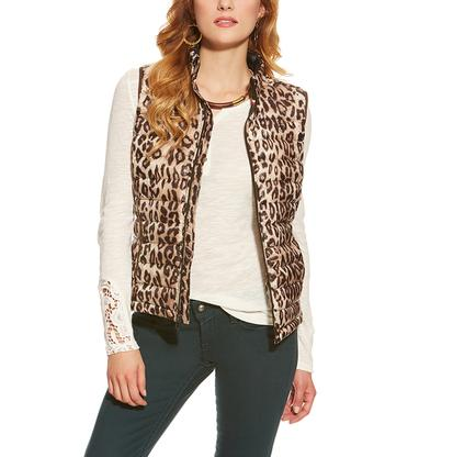 Ariat Womens Ideal Down Leopard Vest