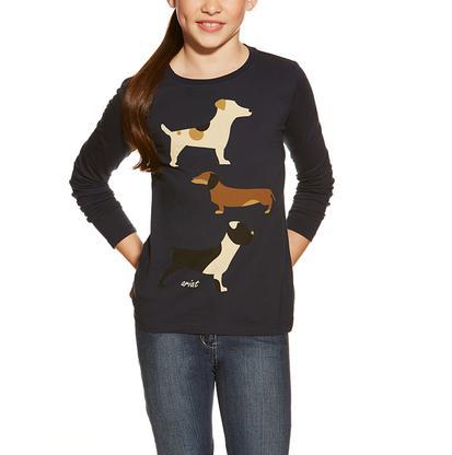 Ariat Girls Kennel Club Dog T-Shirt for Girls