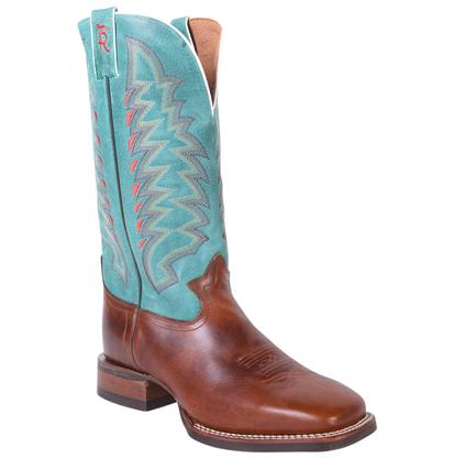 Tony Lama Mens 3R Buckaroo Collection Round Toe Cowboy Boots