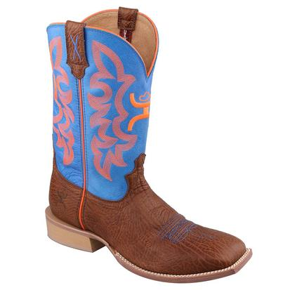 Twisted X Men's Hooey Blue and Orange Cowboy Boots