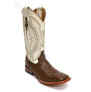 Ferrini Mens Full Quill Ostrich Kango Pearl Boots