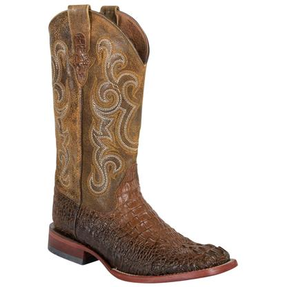 Ferrini Mens Chocolate Crocodile Boots