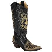 Corral Women's Black Crystal Horseshoe Cowgirl Boots