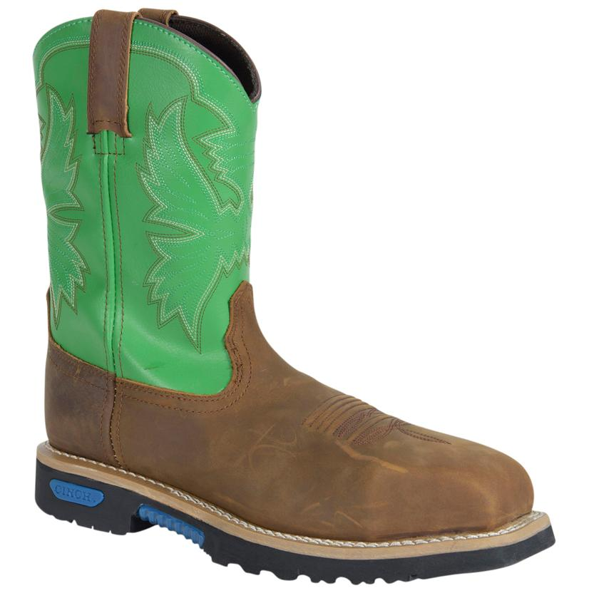 Cinch Mens Wrx Ct Safety Toe Brown Green Boots