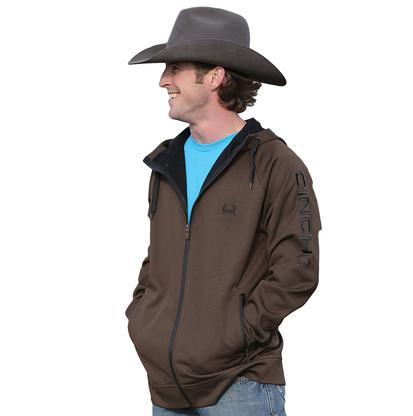 Cinch Mens Western Hooded Raglan Fleece Jacket