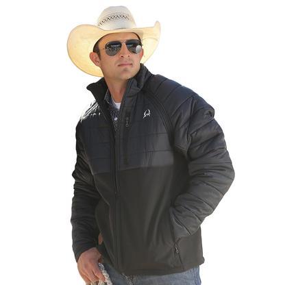 Cinch Western Mens Bonded Reflective Black Jacket