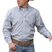 Cinch Mens Modern Fit Grey Basic Button Down Shirt