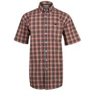 Cinch Mens Plaid Short Sleeve Shirt