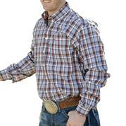 Cinch Western Men's Long Sleeve Pocket Plaid Shirt