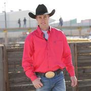 Cinch Men's Pink Long Sleeve Button Down Shirt