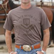 Cinch Men's Heather Brown Jersey Tee